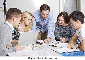 教室, 生徒, 教師, 仕事
