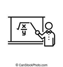 教室, 老師, 插圖, 設計
