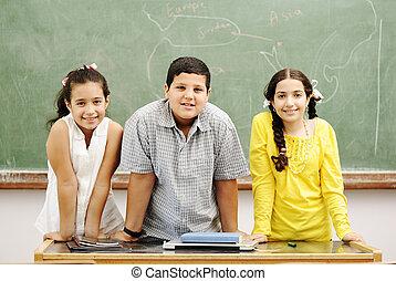 教室, 3人の子供たち