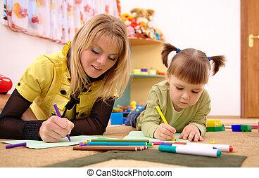 教师, 学龄前的孩子