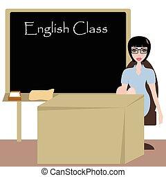教師, かなり, 英語