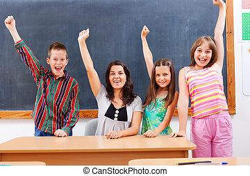 教師, そして, 生徒, 中に, 教室
