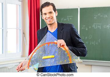 教師, ∥で∥, 三角形, の前, a, 学校の クラス