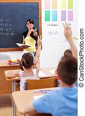 教師, で 指すこと, 生徒