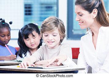 教師, ∥で∥, 男生徒, 中に, a, 多 民族, 基本, 教室