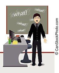 教師, ∥において∥, ∥, テーブル。, 概念, の, education.