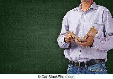 教師, 中に, 教室