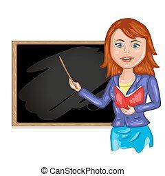 教師, 前部, 黒板