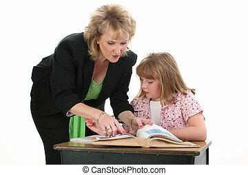 教師, 学生, 子供