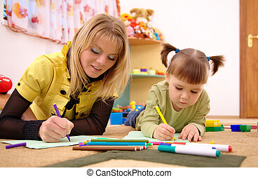 教師, 就学前の 子供
