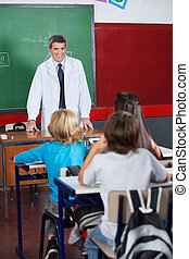 教師, 教授, 生徒, 中に, 教室