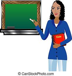 教師, 黒板