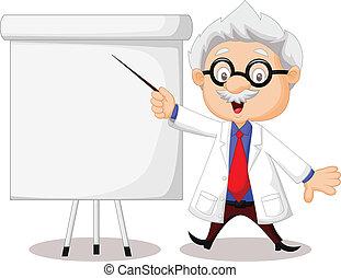 教授, 卡通, 教學