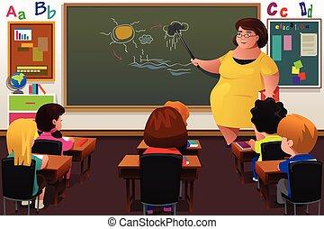 教授, 教師, 教室