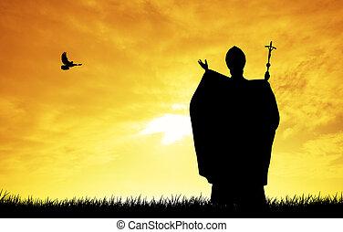 教皇, 黑色半面畫像
