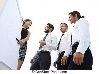 教練, 實施, 訓練, 由于, 事務, team.