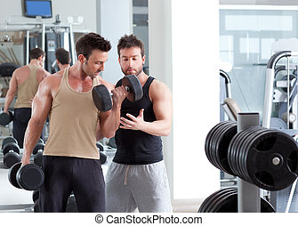 教練, 訓練, 重量, 個人, 體操, 人