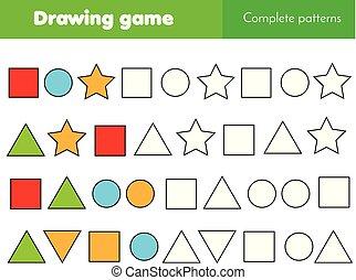 教育, ゲーム, ∥ために∥, kids., 完了しなさい, パターン, そして, 継続しなさい, ∥, 横列, 仕事