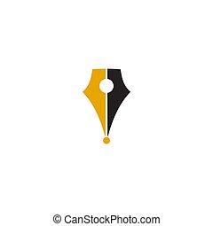 教育, デザイン, ベクトル, ロゴ, テンプレート