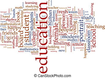 教育, 単語, 雲