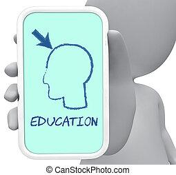 教育, 在網上, 顯示, 學習, 以及, 發展, 3d, rendering