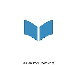 教育, 本, ロゴ