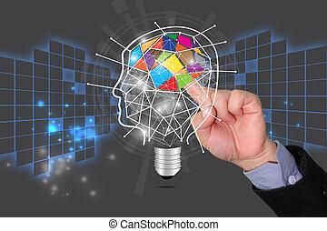教育, 概念, 考え,