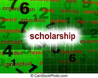教育, 獎學金, 顯示, 學校, 訓練, 以及, 學校教育