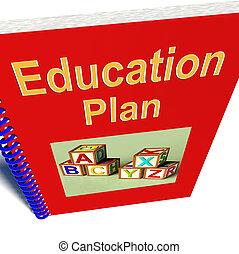 教育, 計劃, 顯示, 學習, 戰略