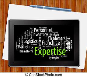教育, 詞, 片劑, wordclouds, 精通, 專門技能, 顯示