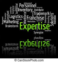 教育, 詞, wordclouds, 精通, 專門技能, 顯示