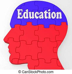 教育, 顯示, 學習, 學習, 以及, 發展