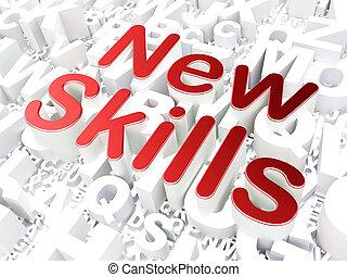 教育, concept:, 新, 技能, 上, 字母表, 背景