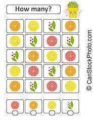 数えなさい, 平ら, illustration., 映像, 単純である, 多数, 隔離された, result., 書きなさい, ゲーム, ベクトル, 場所, 幼稚園, 成果, children., answers., 下方に
