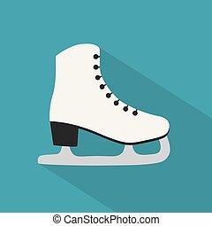 数字, イラスト, ベクトル, アイススケートをする, icon-