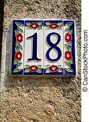 数字, 房子, 家做, 陶瓷, 装饰
