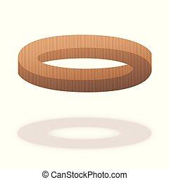 数字, 木製である, 光学, 不可能, リング, 錯覚