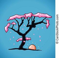 数字, 桜の木