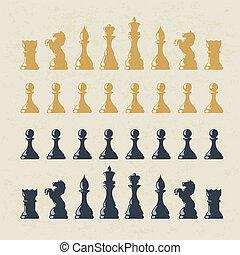 数字, set., ベクトル, チェス, eps10