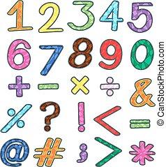 数学, オペレーション, カラフルである, 数