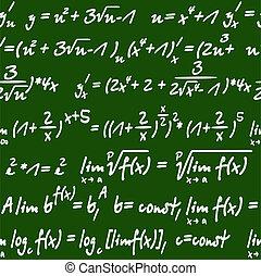 数学, パターン, 方程式, seamless