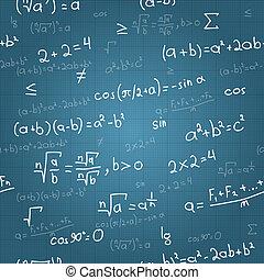 数学, フォーミュラ, パターン, seamless, ベクトル, blueprint.
