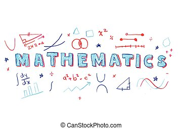 数学, 単語, イラスト