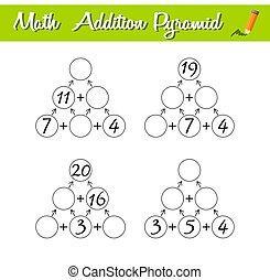 数学, 教育, ピラミッド, 初心者, レベル, game., 困惑, 2., 数学