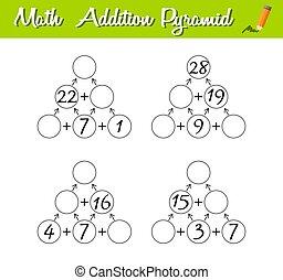 数学, 教育, ピラミッド, 初心者, レベル, game., 困惑, 3., 数学