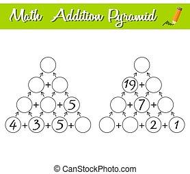 数学, 教育, ピラミッド, 初心者, game., 困惑, level., ゲーム, 数学, 0-30.