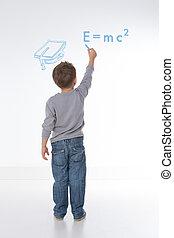 数学, 方式, 書く, 子供