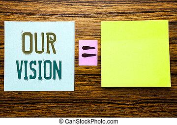 数学, vision., 概念, ビジネス, スペース, 木製である, 単語, 方程式, 印, 付せん, バックグラウンド。, 書かれた, ペーパー, 執筆, マーケティング, 私達の, 作戦, あなたの, ビジョン