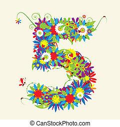 数, また, 見なさい、, 数, 花, 私, ギャラリー, design.