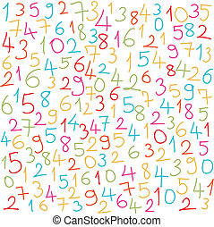 数, カラフルである